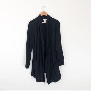 BHBM Black Long Knit Cardigan